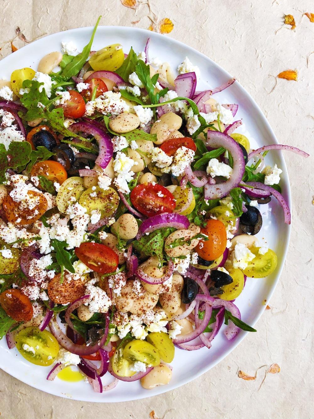 Tuscan Bean & Tomato Salad