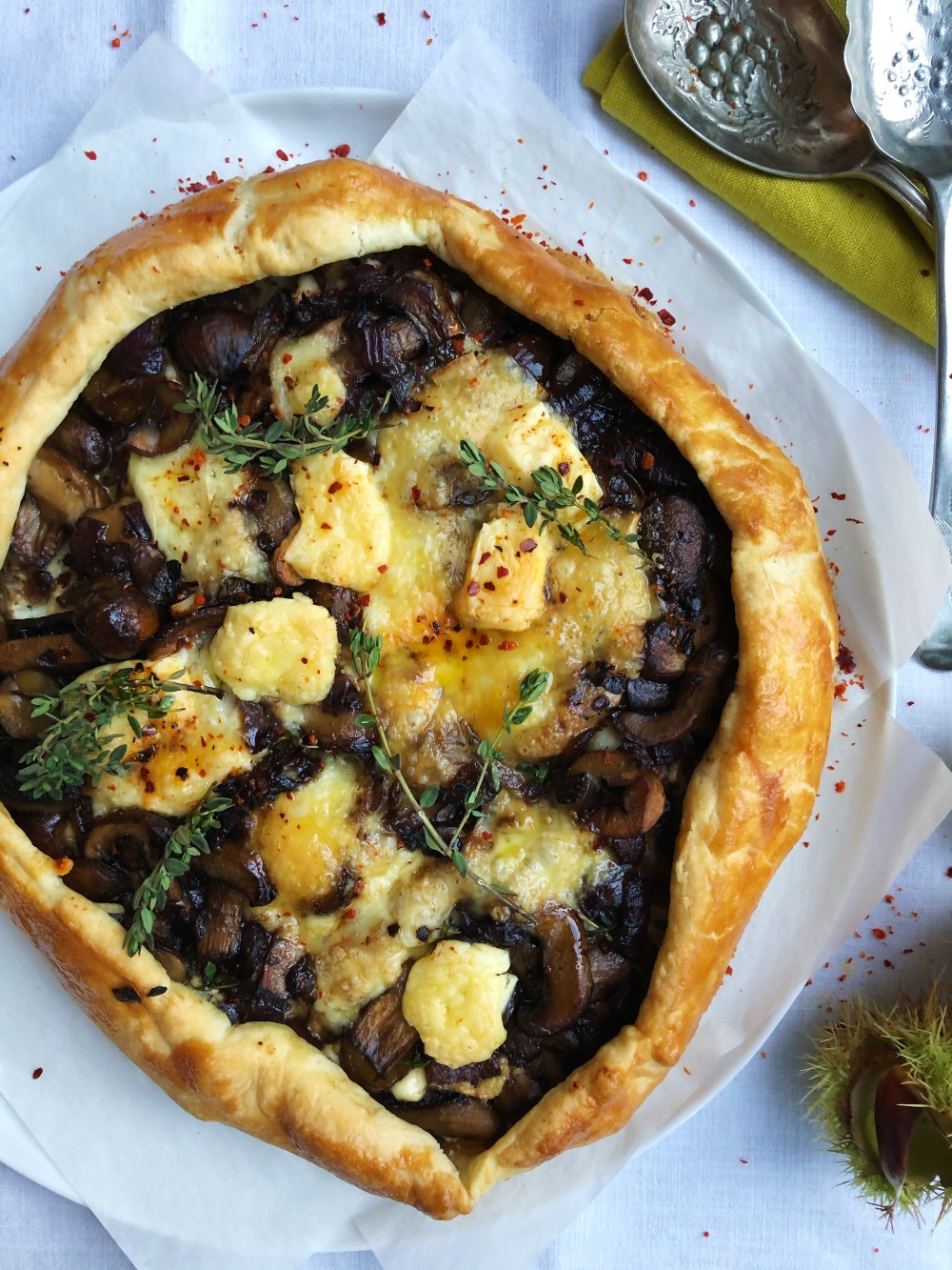 Mushroom and Chestnut Tart