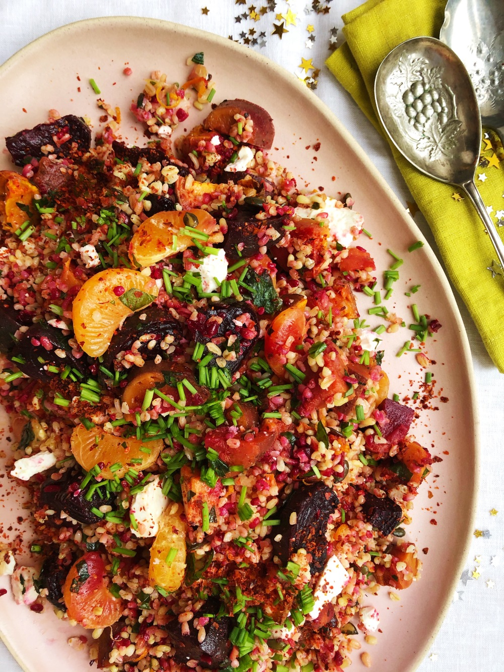 Grain, Beetroot and Celementine Salad