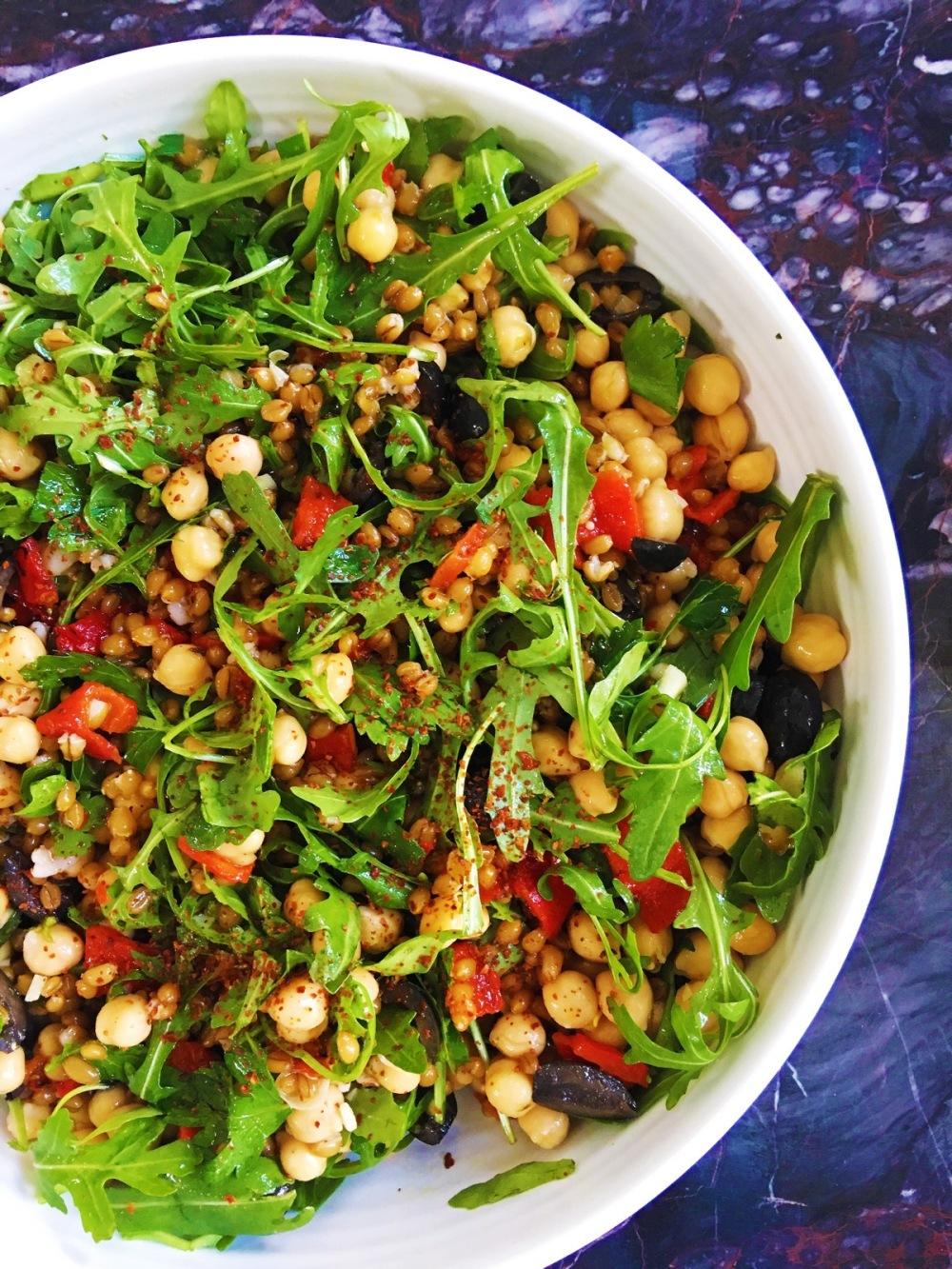Greek Spelt Salad